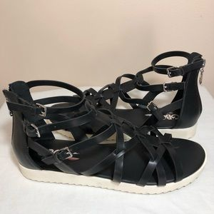 G by Guess black gladiator sandals size 10